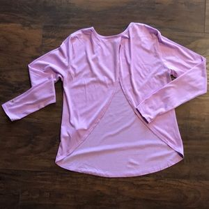 Fabletics Open Back Long Sleeve T-shirt | XS